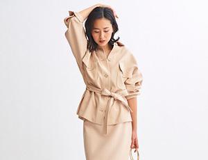 春の新作『CPOジャケット&ロングタイトスカート』
