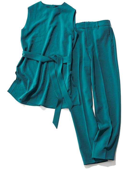 ボレロ付きの腰巻風パンツ